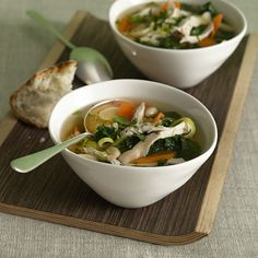 Chicken and White Bean Soup with Greens Recipe - Health Mobile