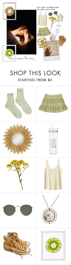 """Sunny days"" by pisces06-03-01 ❤ liked on Polyvore featuring Hansel from Basel, Nanette Lepore, Universal Lighting and Decor, Ray-Ban, Converse and PTM Images"