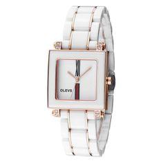 Luxurious Ceramic Diamond White Ladies Watch