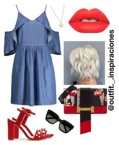 """""""Untitled #102"""" by matyllerena on Polyvore featuring Prada, W118 by Walter Baker, Yves Saint Laurent, Lime Crime and Bing Bang"""