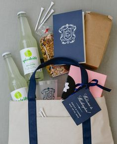 For Our Sporty Bride And Groom We Created Wedding Welcome Bags