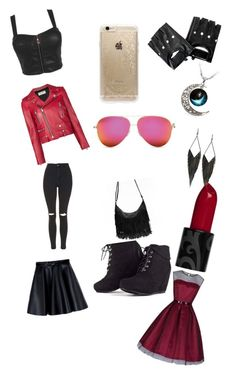 """supernatural"" by lilly-n-hood-sos on Polyvore featuring Yves Saint Laurent, Topshop, MSGM, Rifle Paper Co and GUESS"