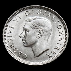 1942 George VI Silver Sixpence – A/UNC