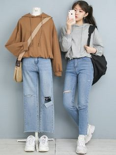 Korean Girl Fashion, Korean Fashion Trends, Ulzzang Fashion, Korean Street Fashion, Korea Fashion, Asian Fashion, Look Fashion, Kpop Fashion Outfits, Korean Outfits