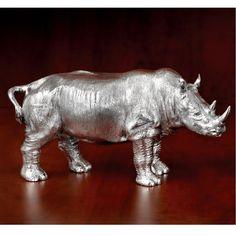 Sterling Silver Rhino Large | Home Decor Accessories | Home Decor | ScullyandScully.com