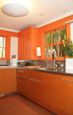Burnt Orange Kitchen Cabinets orange-color-ideas-kitchens-cabinets-4 (432×576) | burnt