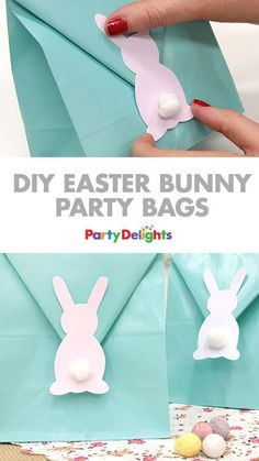 Easy DIY Easter Bunny Party Bags Easter is the perfect time to get crafty! Easter Birthday Party, Bunny Birthday, 2nd Birthday, Birthday Crafts, Peter Rabbit Party, Bunny Crafts, Easter Crafts For Kids, Diy Easter Bags, Ostern Party
