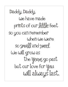 father's day footsteps poem