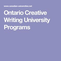 Creative Writing Undergraduate And Graduate Programs Degrees Courses Education Offered By Universities Or Colleges In Canada
