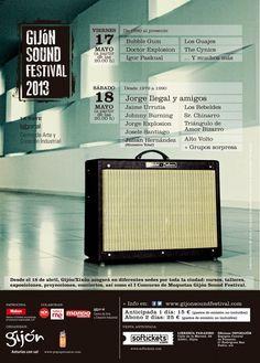 Aquí tienes el programa del Gijón Sound Festival para descargártelo