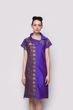 Blue Violet Wrap Dress