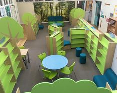 Library shelving installation