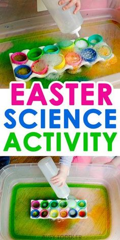 Easter Science Activity - such a fun Easter activity that kids love! This quick and easy science activity is perfect for toddlers and preschoolers. activities for kids toddlers Best Easter Science Activity Easter Activities For Toddlers, Easter Crafts For Kids, Toddler Preschool, Toddler Crafts, Easter Crafts For Preschoolers, Easter Games, Easter Ideas For Kids, April Preschool, Crafts Toddlers