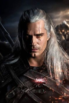 Henry Cavill as Geralt of Rivia, The Witcher Henry Cavill, The Witcher Series, The Witcher Books, Superman Cavill, Henry Superman, The Witcher Geralt, Witcher Art, The Witchers, American Horror Story