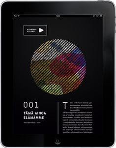 Kjell Westö iPad Publication by Jonna Koivumäki, via Behance