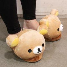 So Cute~ I want Rilakkuma slippers Rilakkuma, Unique Shoes, Cute Shoes, Hello Kitty, Cute Slippers, All Things Cute, Cute Bears, Harajuku Fashion, Toys For Girls