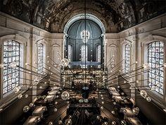 Nijboer - Restaurant The Jane Antwerpen  #restaurant #lamp #interieur #kerk