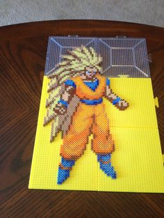 Goku Dragon Ball Perler Bead Sprite by jnjfranklin on deviantART