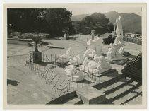 Charles-Georges Cassou's Birth of Venus statues, circa San Simeon, construction San Simeon California, Construction Images, Online Archive, San Luis Obispo, View Source, Venus, Fields, Statues, Birth