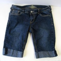 Last Minute Summer Vacations or Back to School Wardrobe! These are great for both! Very cute! Revolt Girls Blue Jeans Shorts Size 5  #Revolt #Everyday