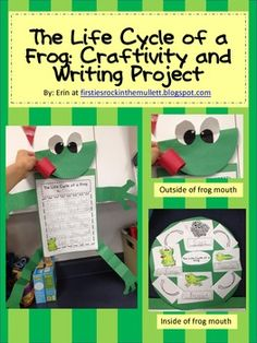 This product contains step by step directions to create an adorable life cycle of a frog craft and writing activity. Students will cut, label and glue down the life cycle of a frog in the correct order. They will also have the opportunity to write about the life cycle in their own words!
