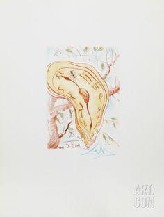 Melting Clock Collectable Print by Salvador Dalí at Art.com