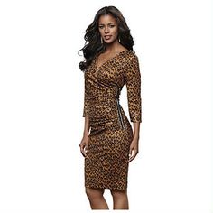 Animal Side Zip Dress | shoemall | free shipping!