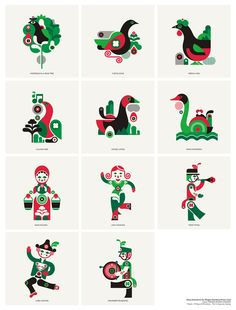 12 days of xmas for magpie studio by fernando volken togni