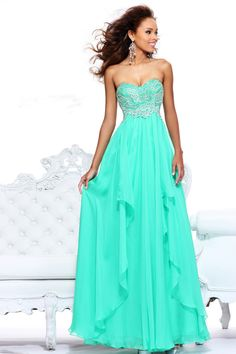 Sheath/Column Chiffon Sweetheart Empire Floor-Length Zipper Sleeveless Beading Draping Ruffles Prom Dress