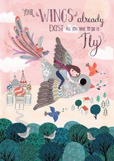 Your wings poster 29,7 x 42 from www.kidsdinge.com       http://instagram.com/kidsdinge      https://www.facebook.com/kidsdingecom-Origineel-speelgoed-hebbedingen-voor-hippe-kids-160122710686387/  #toys #Speelgoed #Kidsroom #Kidsdinge