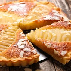 Tart Recipes, Almond Recipes, Lunch Recipes, Cooking Recipes, Desserts Français, Desserts With Biscuits, Dessert Recipes, French Pastries, Some Recipe