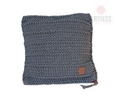 Ručně pletený polštář 001 šedý 50x50 cm