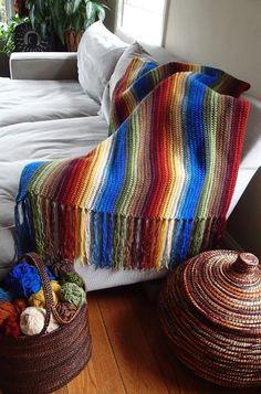 Sierra Madre Blanket Crochet Pattern, Beginner Photo Tutorial PDF