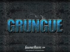 Free photoshop text effect. Free PSD file for download // hard grunge, action game text effect