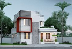 1730 Square feet Square Meter) Square Yards) 3 bedroom small double storied home plan. Estimated construction cost of this budget friendly house is lakhs* (August Two Storey House Plans, Double Storey House, 2 Storey House Design, Bungalow House Design, Small House Design, Modern House Design, Simple House Plans, House Floor Plans, Three Bedroom House Plan