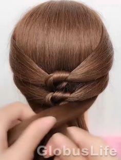 Bun Hairstyles For Long Hair, Pretty Hairstyles, Braided Hairstyles, Hair Style Vedio, Cool Hair Designs, Short Textured Hair, Bridal Hair Buns, Hair Upstyles, Pretty Hair Color