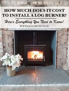 Ever wondered how much it costs to install a wood-burner? And how you can keep costs down? Log Burner Fireplace, Wood Burner, Fireplace Ideas, Wood Burning Stoves Uk, Wood Box Shelves, Cover Wood Paneling, Wood Floor Colors, Wood Plank Ceiling, Faux Wood Tiles