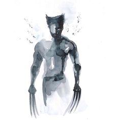 Wolverine Watercolour