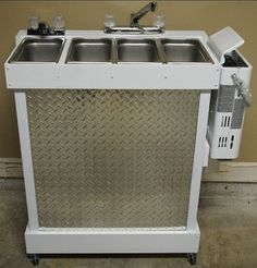 Portable Sink: Propane Concession Sink 3 Compartments by PCSinks