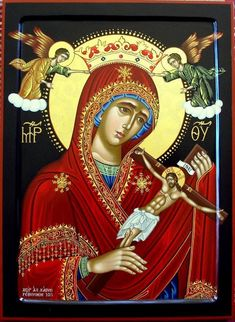 Mother of Christ, pray for us. - Blessed Virgin our Mother Mary Immaculate Religious Images, Religious Icons, Religious Art, Blessed Mother Mary, Divine Mother, Mary Magdalene And Jesus, Church Icon, Our Lady Of Sorrows, Christian Artwork