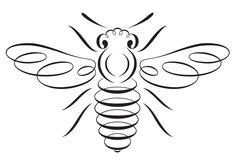 bee honey tattoo drawing bees stencil bumble designs embroidery silhouettes cool hives tattoos outline hive queen svg name draw drawings Painting & Drawing, Bee Drawing, Silhouettes, I Love Bees, Motifs Animal, Bee Art, Bee Happy, Save The Bees, Bees Knees