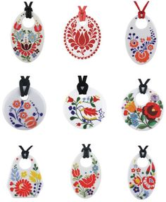Zema Hungarian Tattoo, Hungarian Embroidery, Embroidery Art, Polymer Clay Pendant, Polymer Clay Jewelry, Contemporary Decorative Art, Polymer Clay Embroidery, Cute Clay, Clay Flowers