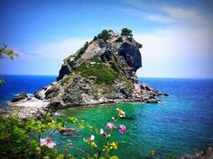 "Agios Ioannis church in Skopelos ~ Greece (where the wedding of ""Mamma Mia!"" was shot)"