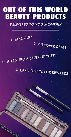 Monthly Beauty Subscription -- If you're looking to try new makeup, try ipsy! You get 4-5 personalized beauty products each month. Delivered to your door. Watch Makeup Tutorials � Product Giveaways � Win Free Products � Save up to 70% off on latest products � Join over 1MM+ subscribers. Subscribe now!