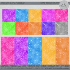 This is a set of patterns in jpg format and also a photoshop .pat file is included as well. Snow, winter. *