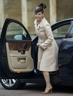 Sophie, Countess of Wessex arrives at the 2014 Easter service at St George's Chapel in Windsor Castle