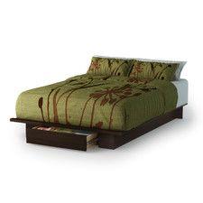 Holland Full/Queen Size Storage Platform Bed