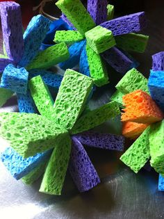 """DIY Sponge Balls. What a """"cool"""" idea. So gonna try this"""