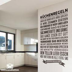 Wandtattoos Küchenregeln