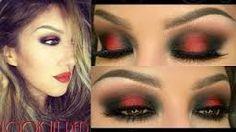 Resultado de imagen para maquillaje ideal para vestido rojo